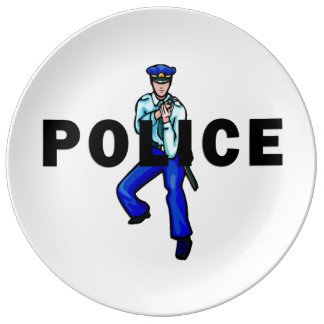 Police Action Logo Plate