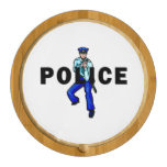 Police Action Logo Round Cheeseboard