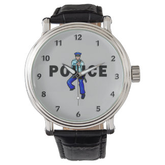 Police Action Logo Wristwatch