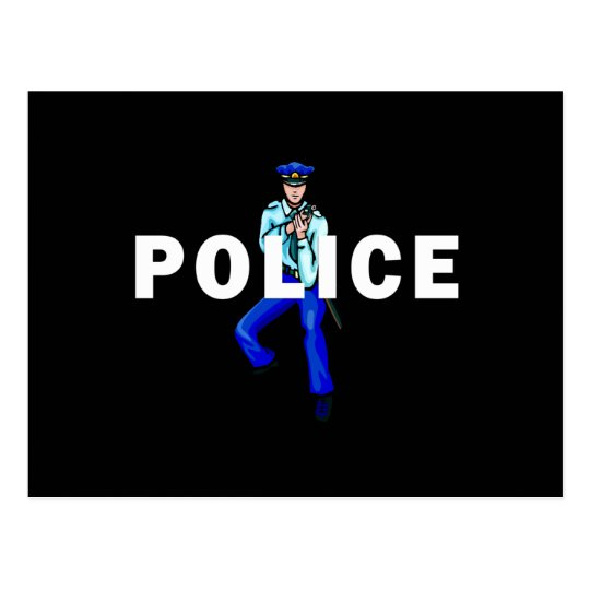 Police Action Postcard