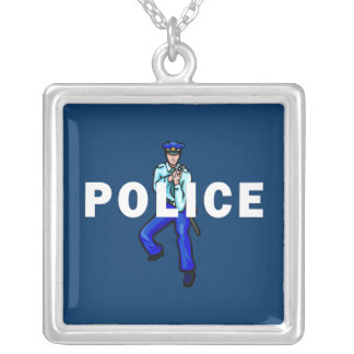 Police Action Silver Plated Necklace