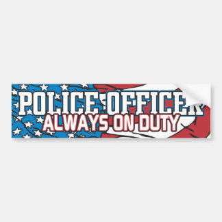 Police Always on Duty Bumper Sticker