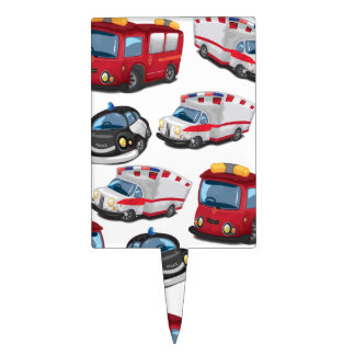Police, Ambulance and Fire Service transport Cake Topper