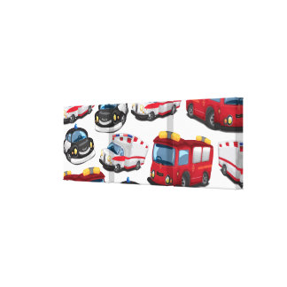 Police, Ambulance and Fire Service transport Canvas Print