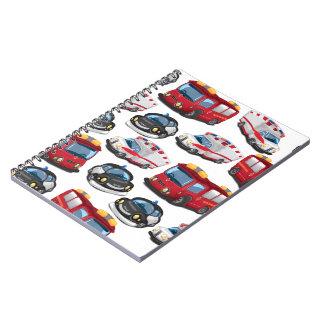 Police, Ambulance and Fire Service transport Spiral Notebook
