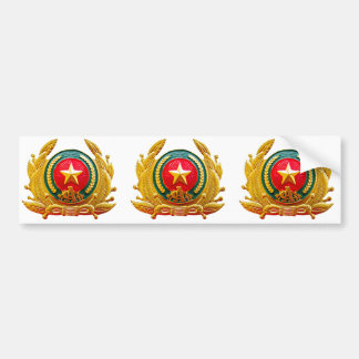 Police and Fire Department badge Bumper Sticker
