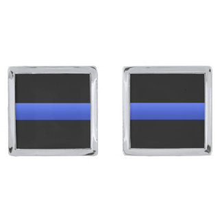 Police and LEO Thin Blue Line Cuff Links