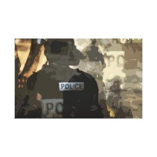 Police Art Canvas Print