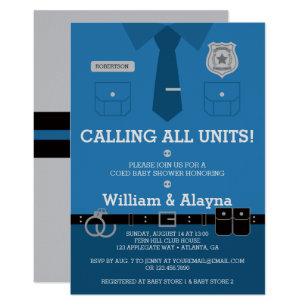 Police baby shower invitations zazzle police baby shower invitation filmwisefo