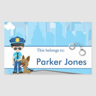 Police Back to School Personalized Labels