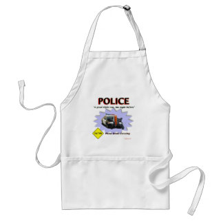 Police Bad Night Patrol Adult Apron