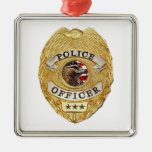 Police_Badge_Active Christmas Tree Ornament