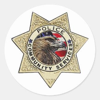 Police_Badge_Community Etiqueta Redonda