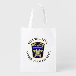 Police Badge Devuce Grocery Bag