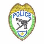 Police Badge Embroidered Polo Shirts