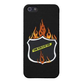 Police Badge Flaming Tattoo iPhone 5 Cases