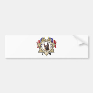 Police_Badge_Officer_Flags_K--9_Cutout Bumper Stickers