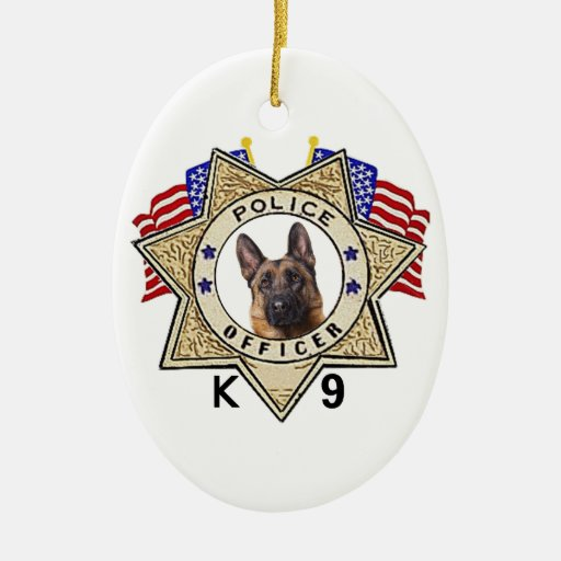 Police badge officer flags k 9 cutout christmas ornaments zazzle