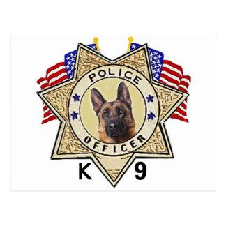 Police_Badge_Officer_Flags_K--9 Postcard