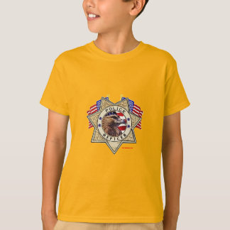 Police_Badge_Officer_Flags T-Shirt