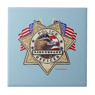 Police_Badge_Officer - Lt Azulejo Cuadrado Pequeño