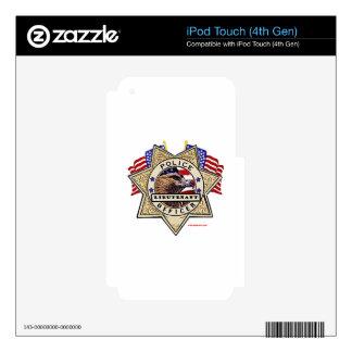 Police_Badge_Officer - Lt iPod Touch 4G Skins