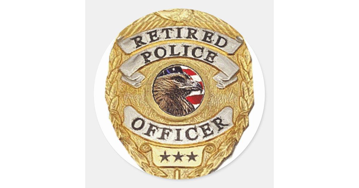 Police_Badge_Retired Classic Round Sticker | Zazzle | 1200 x 630 jpeg 98kB
