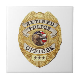 Police_Badge_Retired Small Square Tile