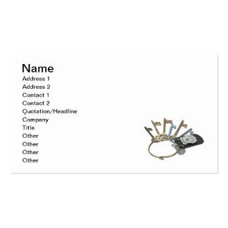 Police Badge Ring Keys Business Card