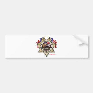 Police_Badge_Sergeant Pegatina Para Auto