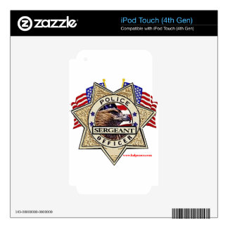 Police_Badge_Sergeant Decal For iPod Touch 4G