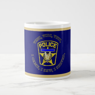 Police Badge Shield Large Coffee Mug