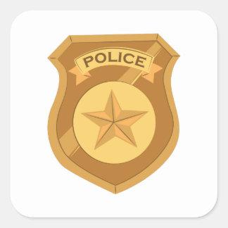 Police Badge Square Sticker