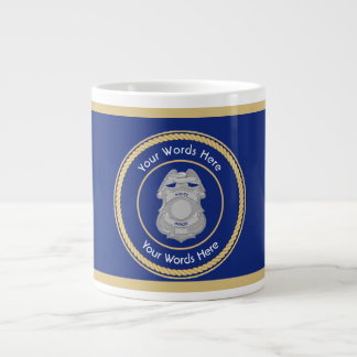Police Badge Universal Shield Large Coffee Mug