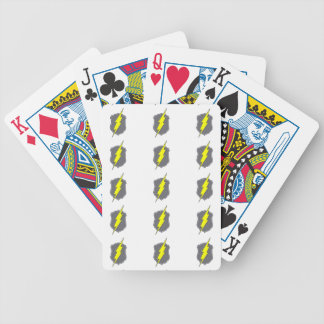 Police Badge w/ Lightning Bolt custom design Bicycle Playing Cards