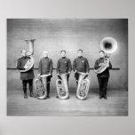 Police Band Tuba Players, 1915 Poster