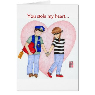 Police Be Mine Valentine Card (customizable)