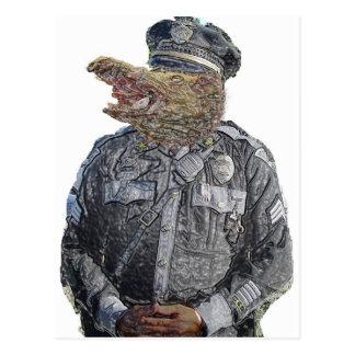 Police Beast Postcard
