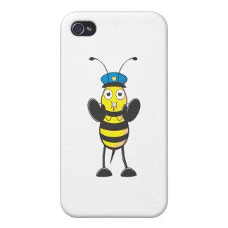 Police Bee in Stop Gesture iPhone 4/4S Cases