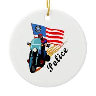 Police Biker Ornaments