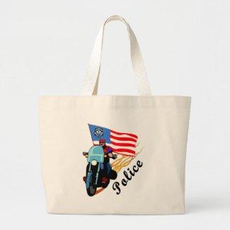 Police Biker Tote Bag