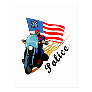 Police Bikers Postcard