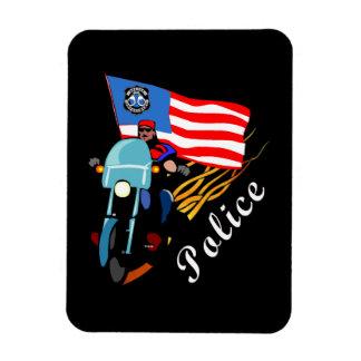 Police Bikers Rectangular Photo Magnet