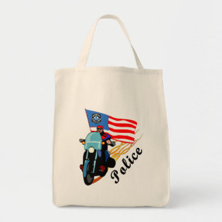 Police Bikers Tote Bag