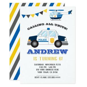 Police Birthday Invitations Zazzle