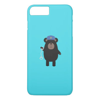 Police Black Bear and handcuffs Q1Q iPhone 7 Plus Case