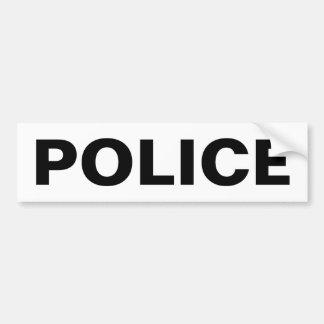 POLICE - Black Logo Emblem Bumper Stickers