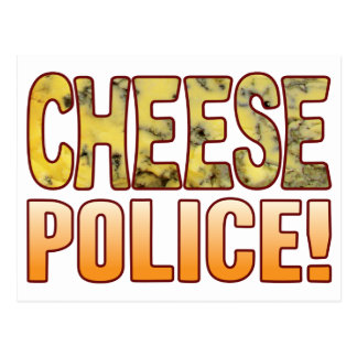 Police Blue Cheese Postcard