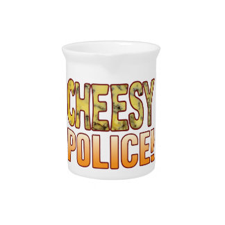 Police Blue Cheesy Beverage Pitcher