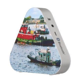 Police Boat and Two Tugboats Bluetooth Speaker